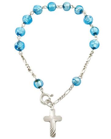 Glass Beads Rosary Catholic Bracelet