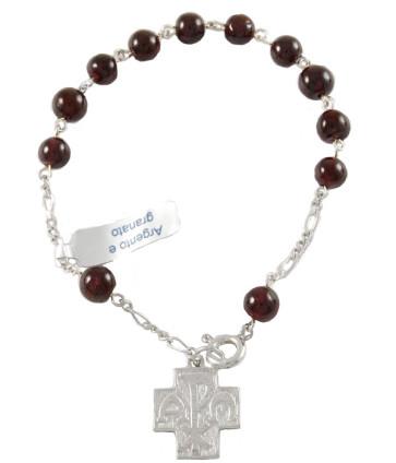 granata beads rosary bracelet