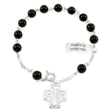 Onyx Beads Rosary Bracelet