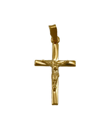 Catholic Crucifix Pendant Gold