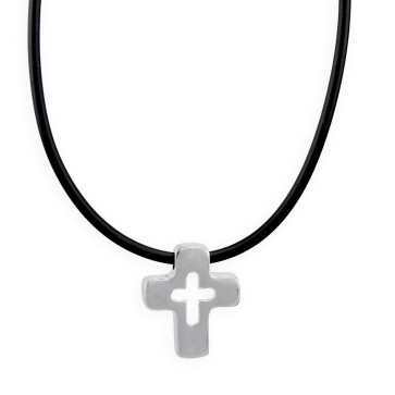 Sterling Silver Cross Catholic Pendant