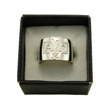 Alpha Omega Catholic Ring
