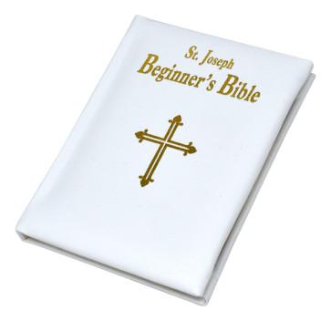 St. Joseph Catholic Beginners Bible - White