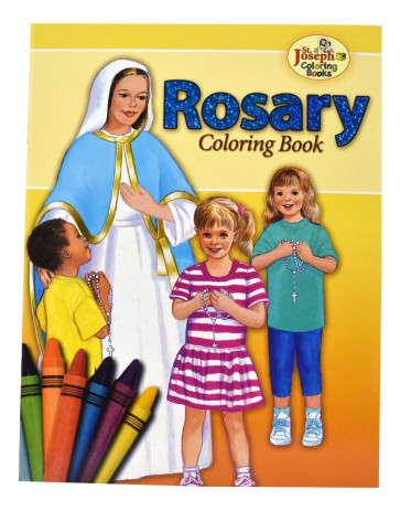 Catholic Coloring Book About the Rosary