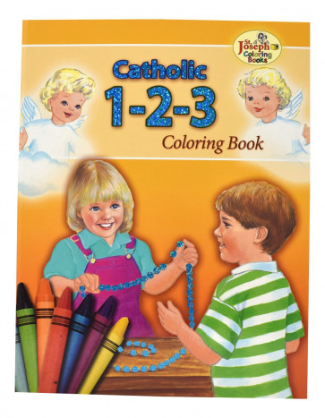 Catholic 1-2-3 Coloring Books