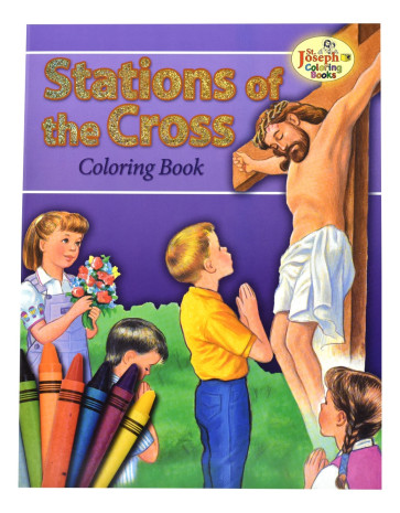 Stations of the Cross Coloring Catholic Book