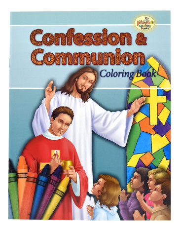 Confession and Communion Coloring Catholic Book