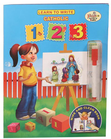 Learn To Write Catholic 123 Activity Book