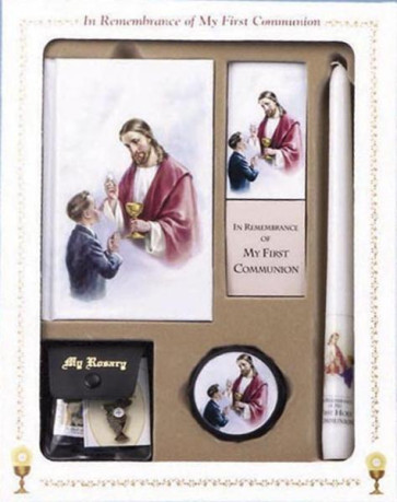 Catholic First Communion Deluxe Box Set for Boys - Sacred Heart Edition