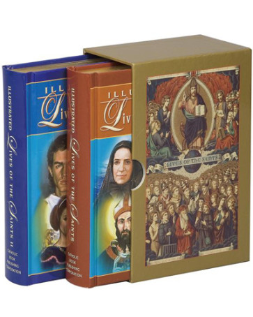 Illustrated Lives of the Saints Vol 1 & 2 Catholic Books