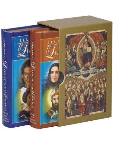 Illustrated Lives of the Saints Vol 1 & 2 Catholic Books