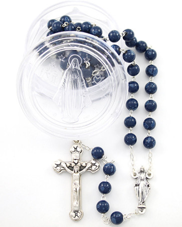 Catholic Our Lady of Miracles Rosary w/ Miraculous Box