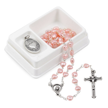 Heart Shaped Rosary Beads Gift Set