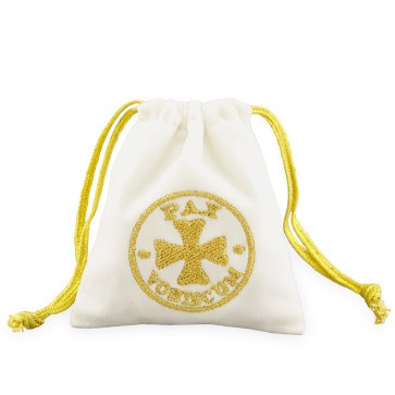 Velour Rosary Pouch with Gold Pax