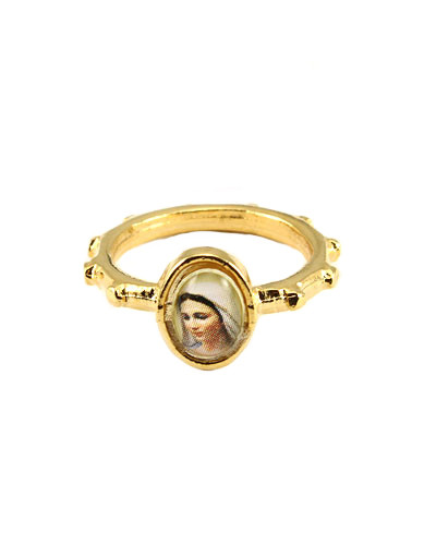 our of medjugorje rosary ring in catholic jewelry