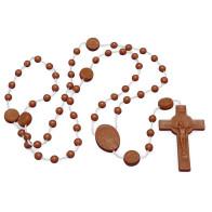 St. Benedict Brown Plastic Rosaries