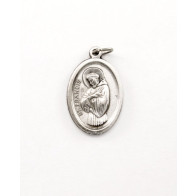 St. Francis Silver Tone Medal