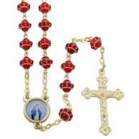 Ruby Red Medieval Beads Rosary