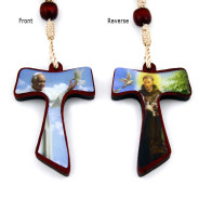Saint Francis Wooden Beads Rosary