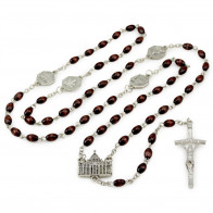 Four Basilica Rosary with Dark Wooden Beads