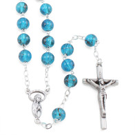 Blue Glass Beads Rosary