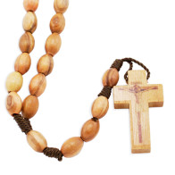 Oval Olive Wood Beads Rosary