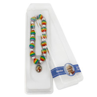 Saint John Paul II Rainbow Beads Bracelet