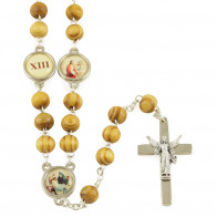Way of the Cross Wooden Beads Rosary