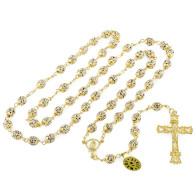Swarovski Rhinestone Rosary Beads in Gold