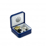 Black Swarovski Crystals Rosary Bracelet with Sterling Silver Beads