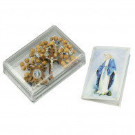 Miraculous Medal Rosary with Olive Wood Beads