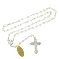 Clear Swarovski Crystal Beads Rosary with Clasp