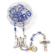 Miraculous Crystal Heart Beads Rosary