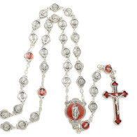 Guadalupe Metal Rosary with Keychain Gift Set