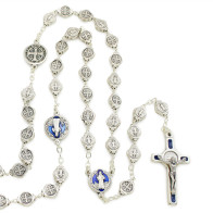 St. Benedict Rosary and Key Chain Gift Set