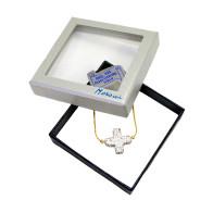 Crystal  Rhinestone Cross Gold Bracelet