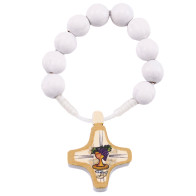 First Communion Wooden Beads Decade Rosary