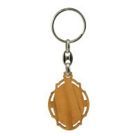 Our Lady of Lourdes Olive Wood Keychain