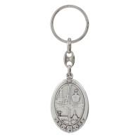 Fatima Centennial Oval Keychain
