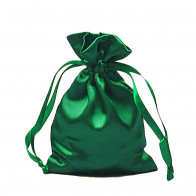 Emerald Satin Rosary Pouch
