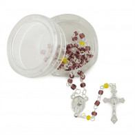 Purple Beads Rosary with Box