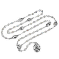 Seven Sorrows Chaplet with Clear Crystal Beads - Servite Rosary