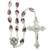 Violet Glass Beads Rosary