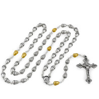 Silver and Gold Acorn Beads Rosary