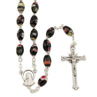 Rosary with Black Murano Glass Beads