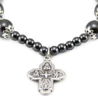 Hematite Beads Adjustable Rosary Bracelet