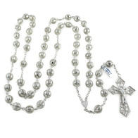 Sterling Silver Rosary with Filigree Beads