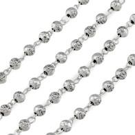 Fatima Metal Rosary Set with Rosebud Beads