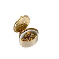 Gold Rosebud Beads Rosary Bracelet  /w Divine Mercy Box