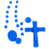Lady of Lourdes Blue Plastic Beads Rosary